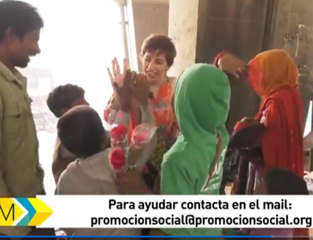 """""""Madrileños por el mundo"""" (Telemadrid) en su programa dedicado a Nueva Delhi visitó el proyecto Kamalini"""
