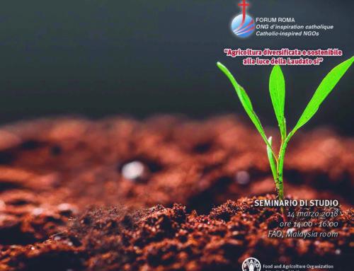 """""""Agricoltura diversificata e sostenibile alla luce della Laudato Si"""", seminario di studio alla FAO"""