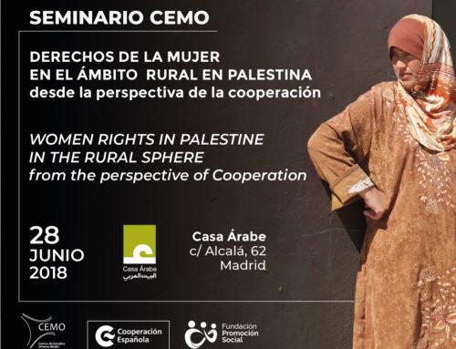 """Próximo seminario CEMO """"Derechos de la mujer en el ámbito rural en Palestina desde la perspectiva de la cooperación"""""""