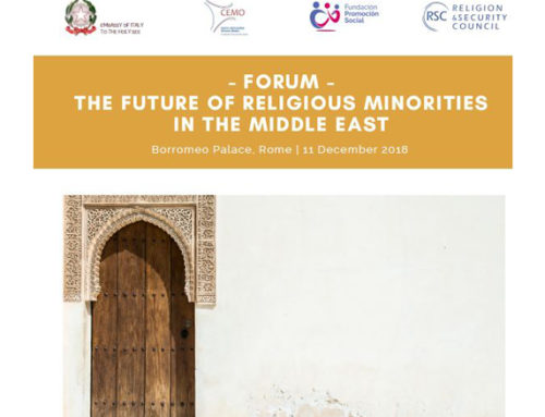 "CEMO organises a seminar devoted to ""The Future of Religious Minorities in the Middle East"" on 11 December in Italy"
