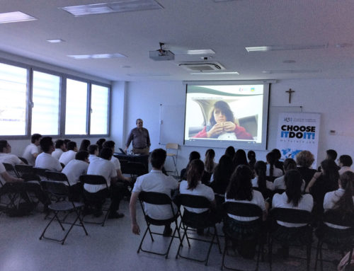 Secondary and High school students participate in the awareness-raising activities of Social Promotion Foundation in Madrid